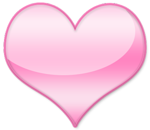 a picture of a glossy, pink heart - my heart!